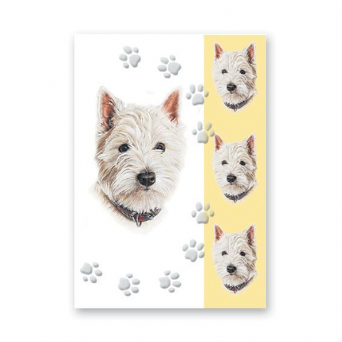 WEST HIGHLAND TERRIER GREETINGS CARD